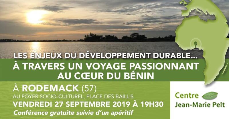 Conférence : Les enjeux du développement durable